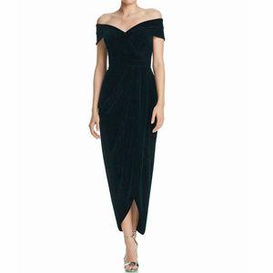 Xscape Black Off The Shoulder Tulip Formal Gown